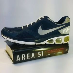 Nike sz 9 Air Max Agitate 5 Running Shoe Navy
